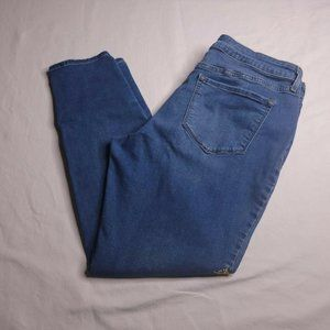 Old Navy Rockstar Jeans Size 14 Embroidered Flower